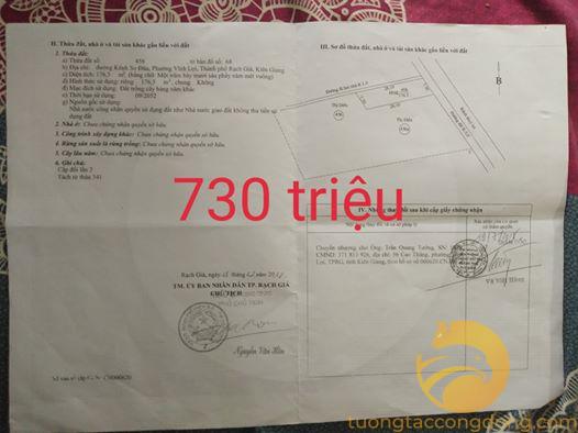Bán đất tại Rạch Sỏi, Kiên Giang